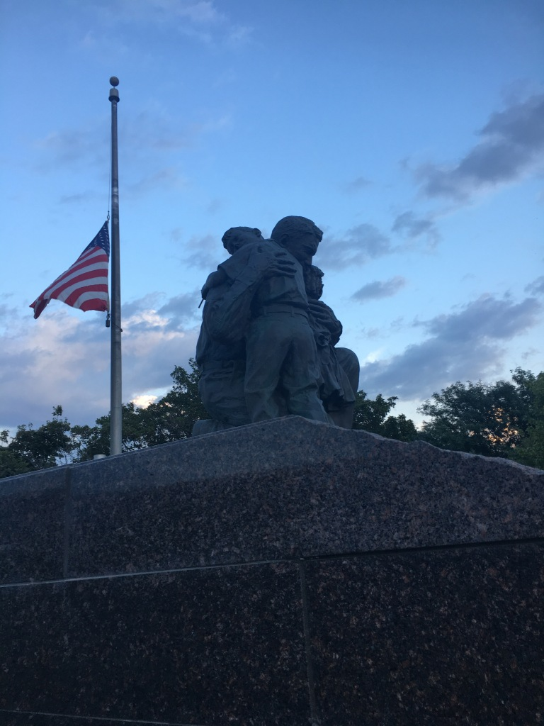 Returning Soldier with Kids